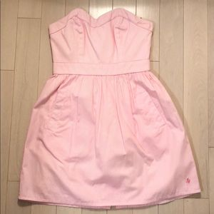 Jack Wills pink cotton candy pin stripe dress
